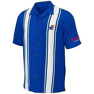 Kansas Jayhawks Mens Passage Camp Shirt by Chiliwear by Chiliwear LLC