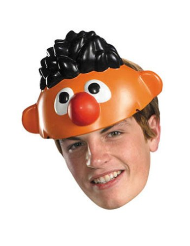Ernie Mask Vacuform Halloween Costume - Most Adults
