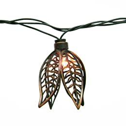 Home 10-ct. Wire Leaf String Lights