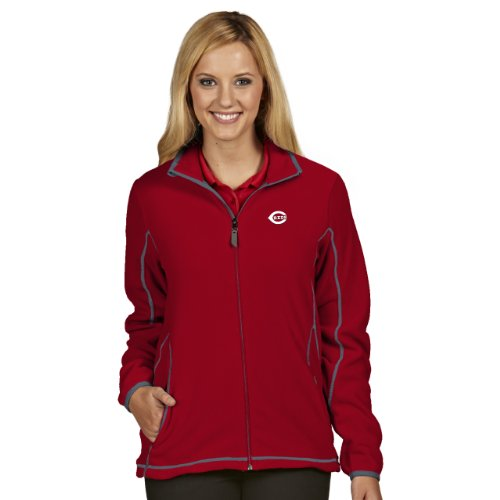 MLB Cincinnati Reds Women's Ice Jacket, Dark Red/Steel, Medium at Amazon.com