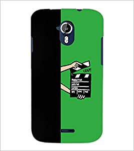 PrintDhaba Film D-5482 Back Case Cover for MICROMAX A116 CANVAS HD (Multi-Coloured)