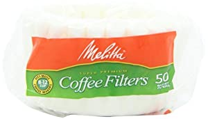 Melitta Basket Coffee Filters, White (8 to12 Cup), 50-Count Filters (Pack of 12)