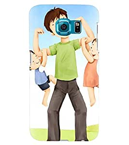 Printvisa Father Lifting The Kids Back Case Cover for Samsung Galaxy Note 5 Edge::Samsung Galaxy Note 5 Edge 2