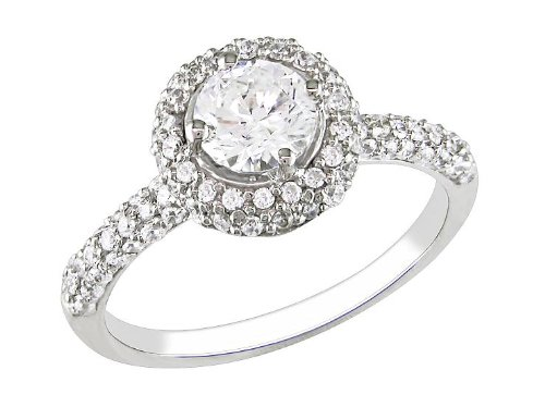 Sterling Silver Cubic Zirconia Fancy Ring