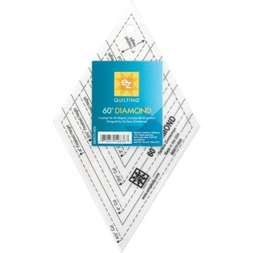 EZ Quilting Diamond Template: Easy To Cut Perfect Diamonds