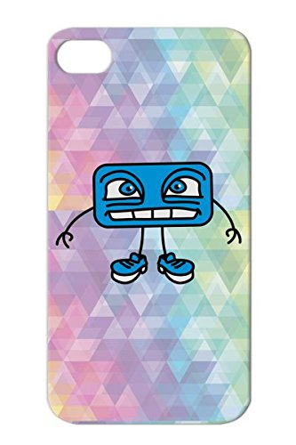 Cool Monster 3C Navy Witty Small Design Funny Comic Motif Beautiful Cute Rectangle Friend Sweet Crazy Child Friendly Nice Comic Funny Teeth Cheeky Mouth Grin Big Cool Happy Smile Cartoon Tpu For Iphone 4S Cover Case