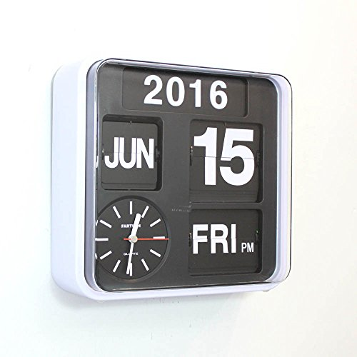 Retro Calendar Flip Clock. Wall mount or free standing. Watch the numbers flip over, just like in the old times!