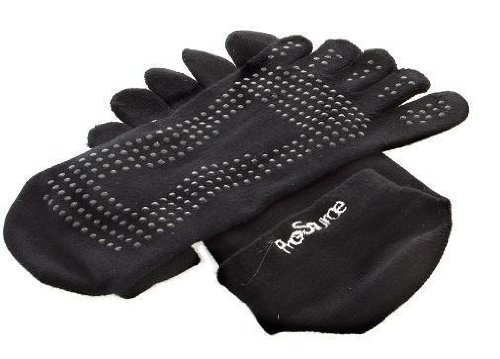 ProSource Discounts Full Toe Yoga Socks, Black, Small/Medium