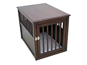 Crown Pet Crate Table, Medium Size with Espresso Finish
