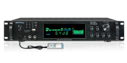 Sale!! Technical Pro HB1502U Digital Hybrid Amplifier/Preamp/ Tuner with USB and SD Card Inputs