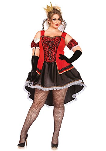 Halloween 2017 Disney Costumes Plus Size & Standard Women's Costume Characters - Women's Costume CharactersLeg Avenue Women's Plus-Size Royally Sexy Queen Costume, Red/Black