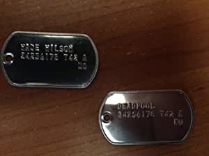 "Wade Wilson ""Deadpool"" Classic Replica Dogtag Set"