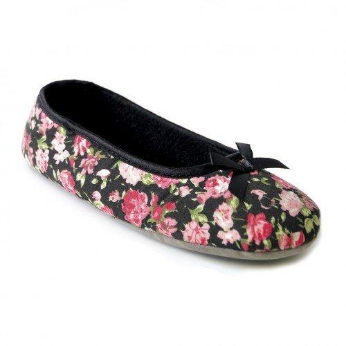 Zapatillas-de-estar-por-casa-estilo-bailarina-con-estampado-de-rosas-para-mujer