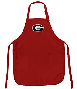 Buy Georgia Bulldogs Apron NCAA Logo Red University of Georgia UGA TOP RATED for Grilling, Barbecue, Kitchen by Broad Bay