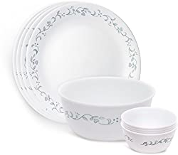 Corelle Country Cottage Gift Dinner Set, 9-Pieces, White/Green