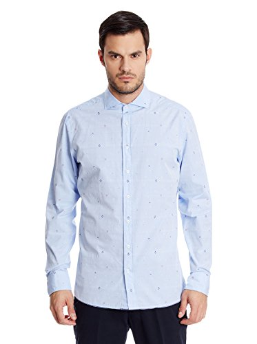 Hackett London - Sky Multi Dobby, Camicia da uomo, blu(bleu), XL