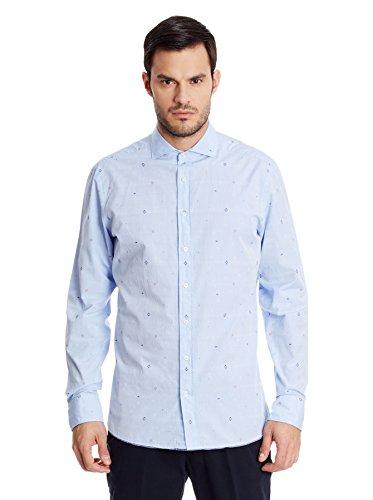 Hackett London - Sky Multi Dobby, Camicia da uomo, blu(bleu), XL