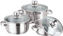 Vinod Cookware Breman Sauce Pot Set, 3-Pieces
