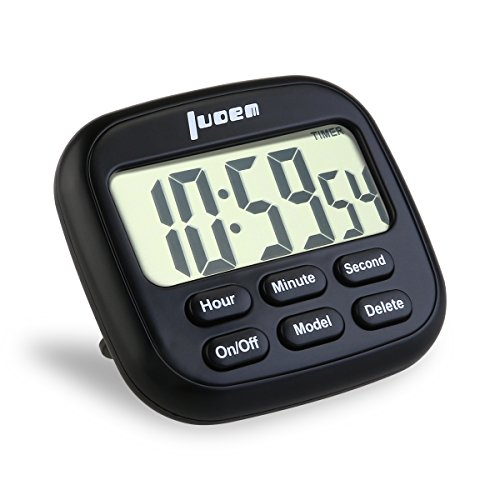 LUOEM Digital Kitchen Timer 24 Hours Magnetic Clock Timer with Loud Alarm and Larger Screen (Digital Timer Clock compare prices)