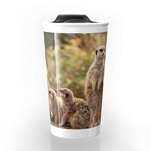 Society6 Meerkat Family Travel Mug 12 oz