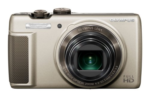 Olympus SH-21 Digital Zoom Camera - Gold (16MP, 12.5x Super-Wide Optical Zoom) 3 inch LCD Touch Panel