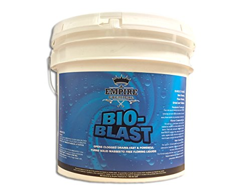 Bio-Blast - Best Natural, Non-Acidic Drain Line Cleaner - For Main Drain Lines, Sink & Floor Pipes, Sewers, Urinals & Toilets - Industrial Strength - Suitable For Home & Commercial Drain Lines