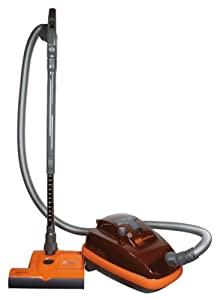 SEBO 9689AM Airbelt K3 Canister Vacuum with ET-1 Powerhead and Parquet Brush, Volcano