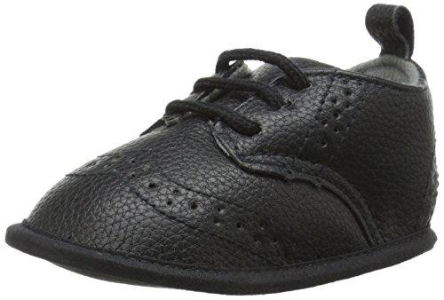 Little Me Pebbled WingTip Shoe Dress Shoe (Infant), Black, 6-9 Months M US Infant