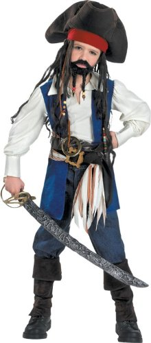Disguise Boys 'Captain Jack Sparrow' Halloween Costume, Multi, M