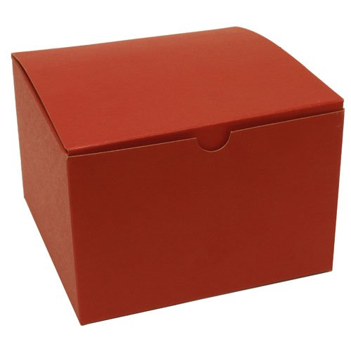 6 x 6 x 4 Red Kraft Open Lid Gift Box - Sold individually
