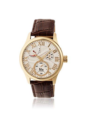 Reign Automatic Men's Bhutan Dark Brown/Silver Leather Watch
