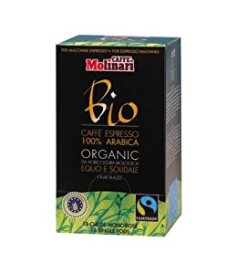Molinari Organic Fairtrade ESE Espresso Coffee Pods