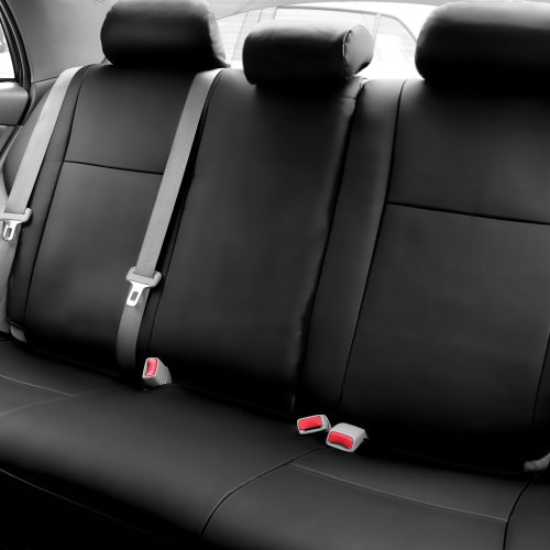 FH CM302013 2009 2011 Toyota Corolla Leather Sedans Only Black Custom Seat Covers Rear Set