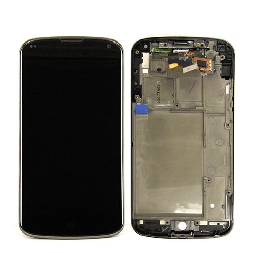 Generic Oem Full Lcd Display Touch Screen Digitizer Assembly With Frame For Lg Nexus 4 E960+Tools