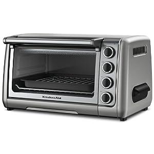 """KitchenAid KCO111CU 10"""" Countertop Oven, Contour Silver"""