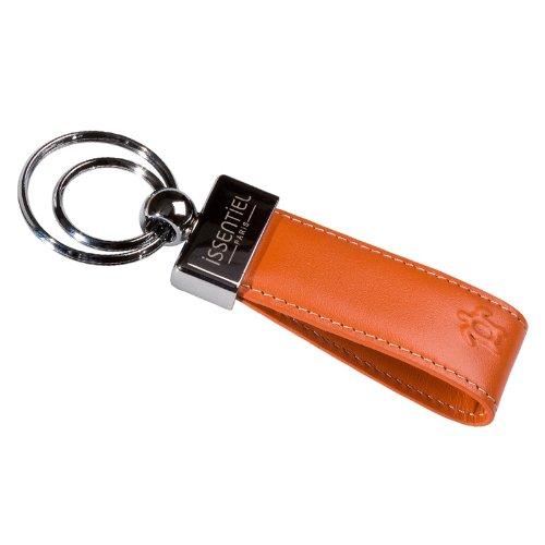 issentiel-paris-original-porte-cles-ganse-de-cuir-deux-anneaux-orange