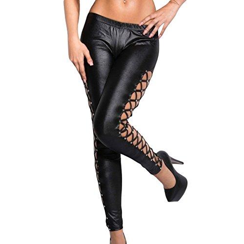 benningco-womens-fashionable-stylish-lacing-sides-black-wet-look-leggingssizes
