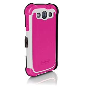 Ballistic SX0932-M685 SG MAXX for Samsung Galaxy SIII/S3 - 1 Pack - Retail Packaging - Hot Pink/White