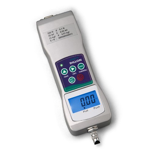 Dillon 36321-0055 Gl Force Gauge, 55Lbs Capacity, Lcd Display, 0.02Lbs Graduation, +/-0.4% Accuracy
