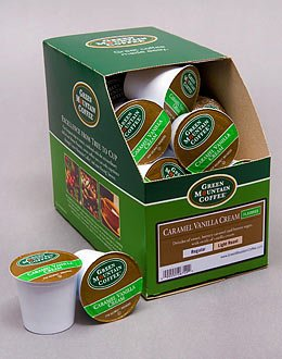 Caramel Vanilla Cream Flavored Coffee --- By Green Mountain --- 4 Boxes Of 24 K-Cups