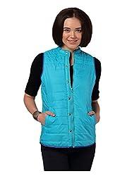 Yepme Women's Blue Polyester Jacket-YPMJACKT5034_L