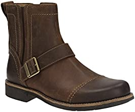 Clarks Mens Casual Meldon Strap Leather Boots In Brown