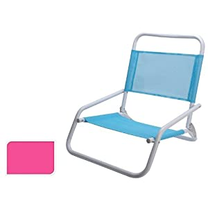 Low Slung Beach Chair Pink