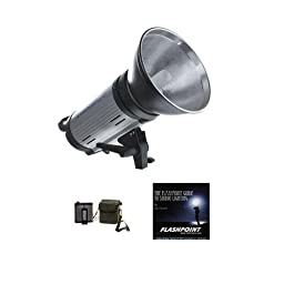 Flashpoint 620M 300 Watt AC/DC Monolight Strobe with Portable Battery Power Pack
