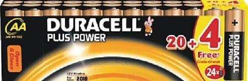 DURACELL-pile alcaline-mignon/aA plus power/dUR018426 24 piles aA mignon