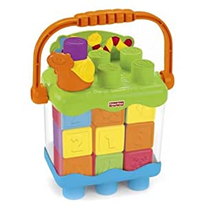Fisher Price Stacking Surprise Count & Build Snail Pail