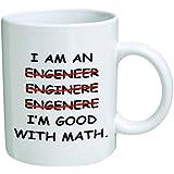 I'm An Engineer Good With Math Coffee Mug - 11 Oz Mug - Nice Motivational And Inspirational Office Gift