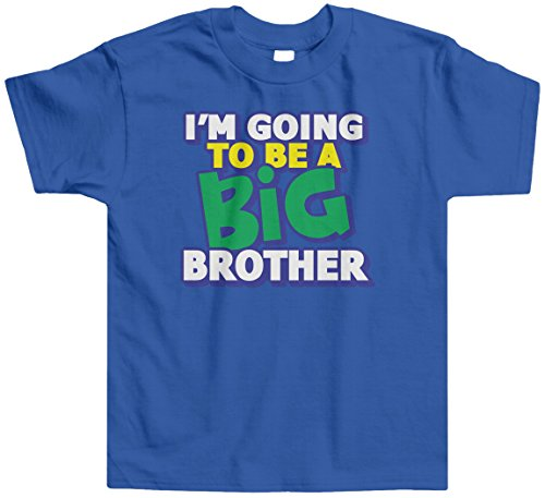 Threadrock Little Boys' I'M Going To Be A Big Brother Toddler T-Shirt 4T Royal Blue front-1054258