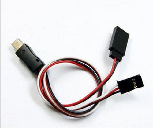 Bluefinger 5V Dc Power Bec Input Conversion Cable Plug Fpv For Jmt Gopro Hero 3 Gopro3 Usb To Av Video Output