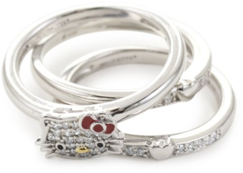 "Hello Kitty ""Sweet Statements"" Set of 3 Rings, Size 7"